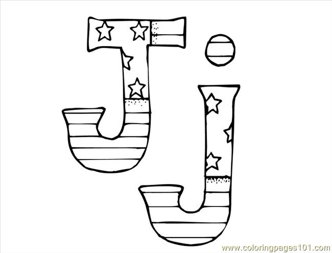 j coloring pages - photo #35