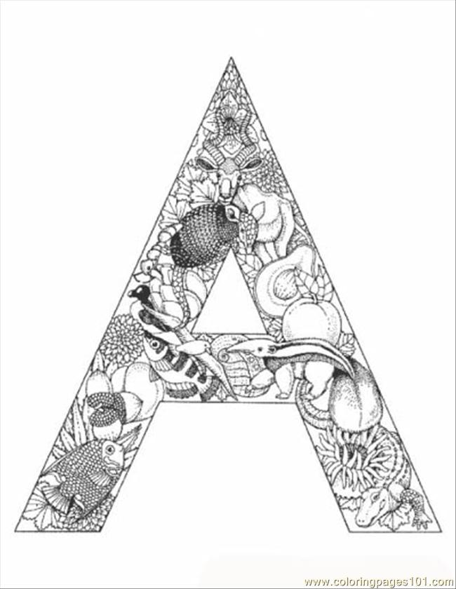 alphabet letters coloring pages printable - photo#36
