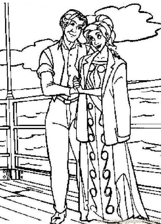 Coloring Pages Lovly Couple romace