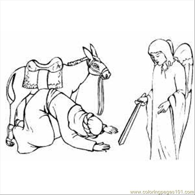 coloring pages balaams donkey - photo#9