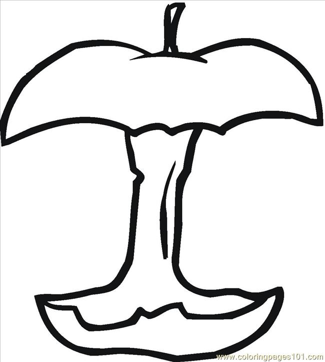 Free Coloring Pages Of Small Apples
