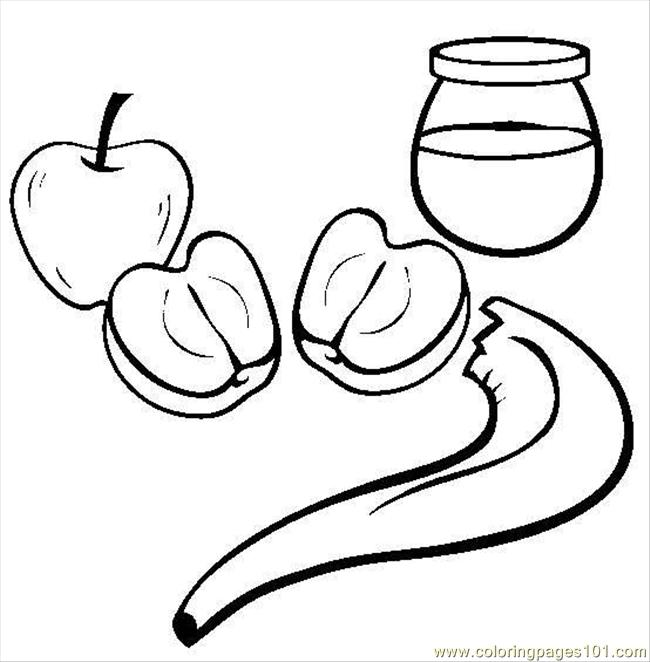 Coloring Pages Honey Apple1 (Food & Fruits > Apples ...
