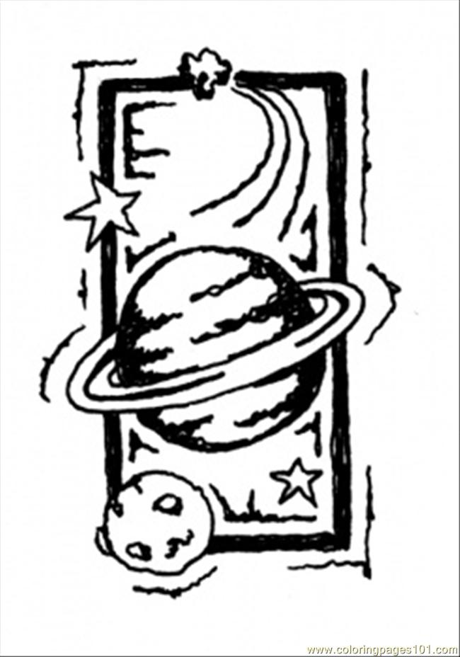 planet saturn coloring page