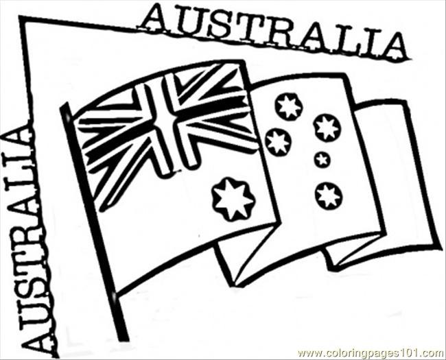 free printable coloring image Australia