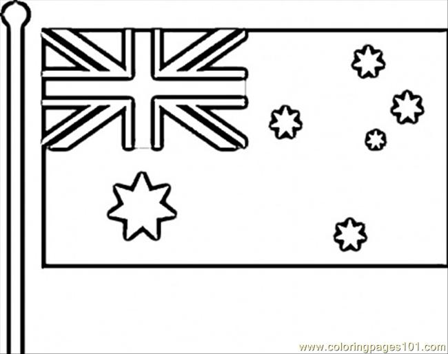 Coloring Pages Flag Of Australia Countries Gt Australia Australian Flag Colouring Page Printable