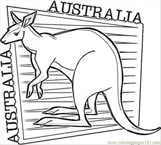 free printable coloring image Kangaroo
