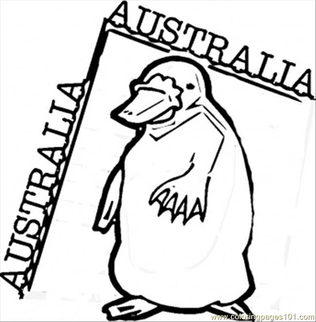free printable coloring image Platypus