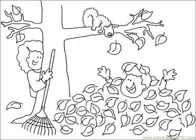 coloring pages fall tree leaf natural world autumn