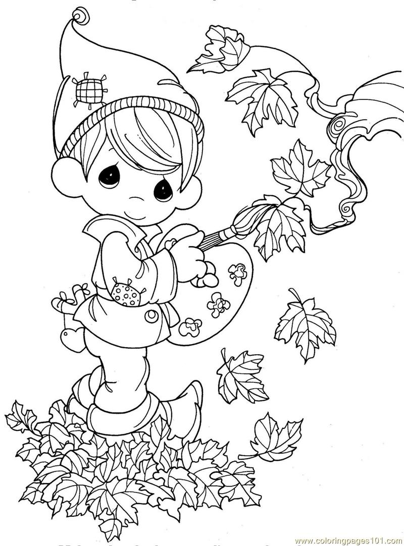 coloring pages autumn kids natural world autumn free