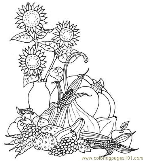 Coloring Pages Harvest Natural World gt Autumn free
