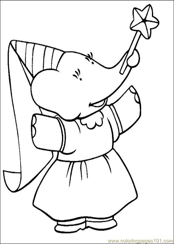 Coloring Pages Babar Coloring Pages 020 Cartoons Gt Babar Babar Coloring Pages