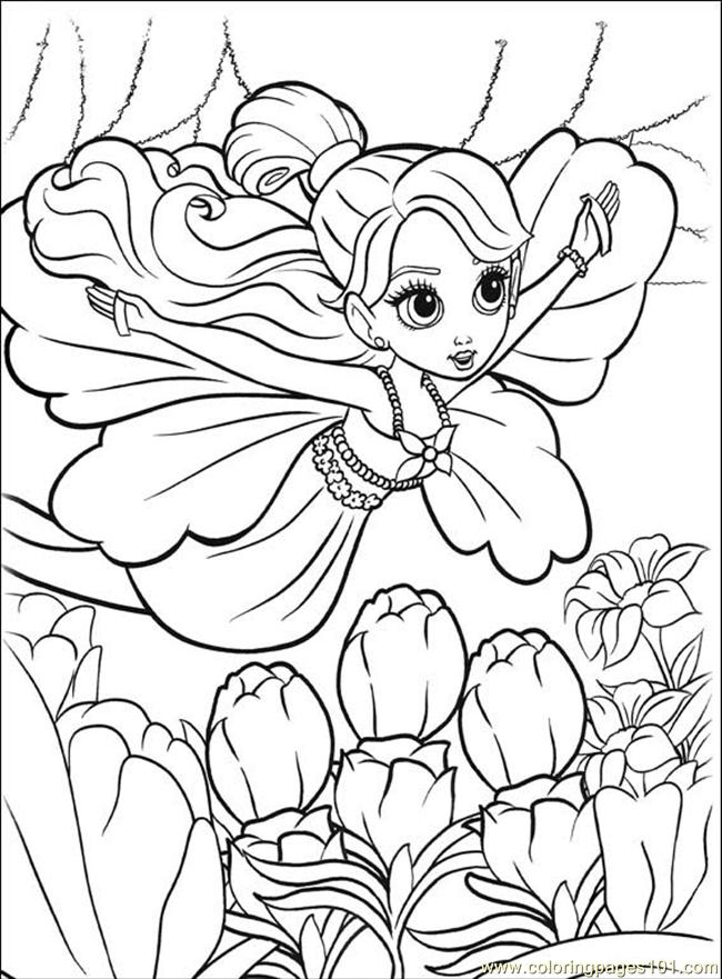 barbie thumbelina coloring pages print - photo#5
