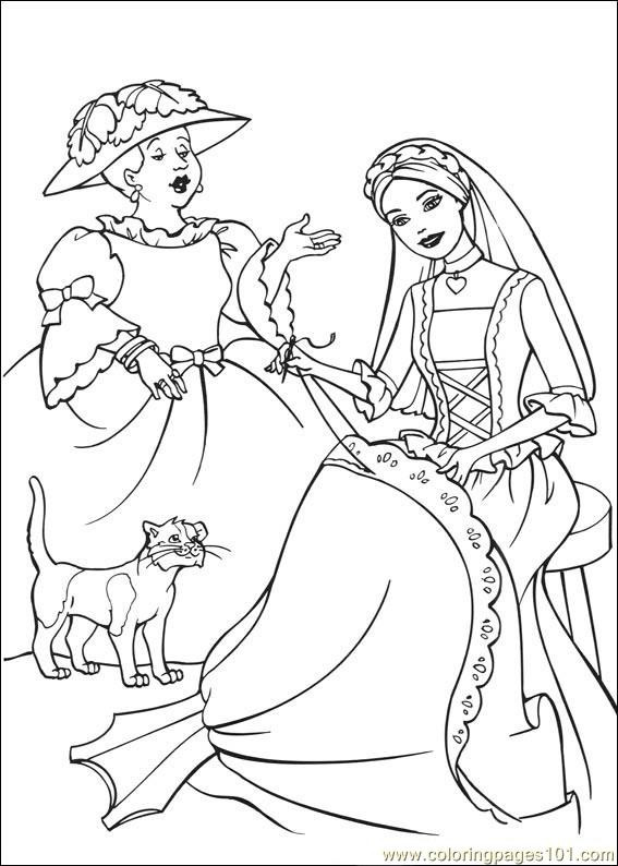 Coloring Pages Barbie Princess Cartoons Gt Barbie