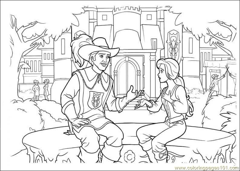 Coloring Pages Barbie And The Three Musketeers Cartoons Gt Barbie