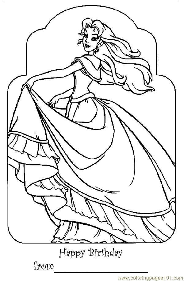 free printable coloring page Barbie Princess Bar (Cartoons > Barbie)
