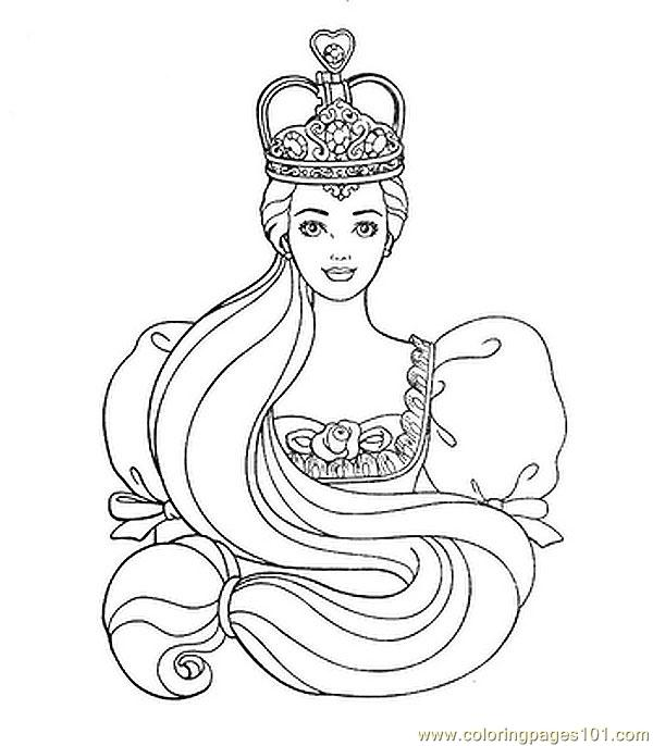 Barbie Princess Coloring Pages To Print Free : Coloring pages free printable princess colouring page