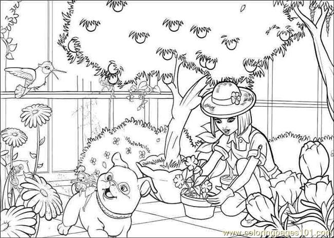 Coloring Pages Coloring Barbie Thumbelina 006 Cartoons