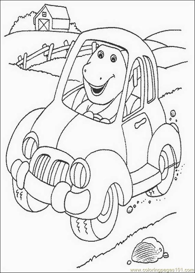 Barney Coloring Pages Pdf : Coloring pages barney cartoons gt free
