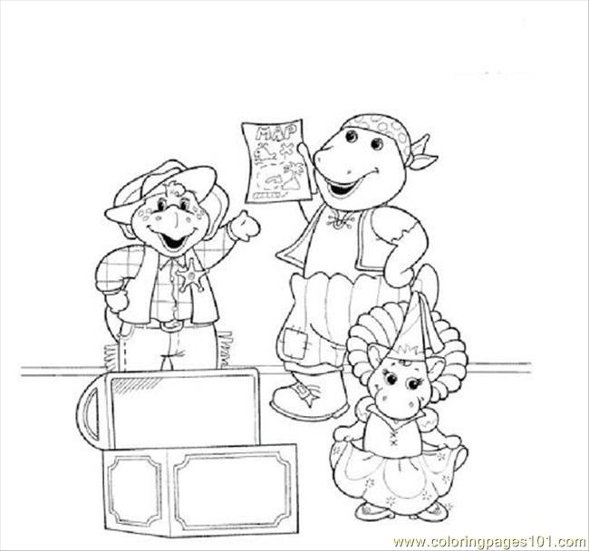 Barney Coloring Pages Pdf : Coloring pages burney cartoons gt barney free