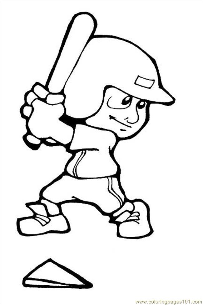 Coloring Pages Baseball Sports Gt Baseball Free Baseball Player Coloring Page