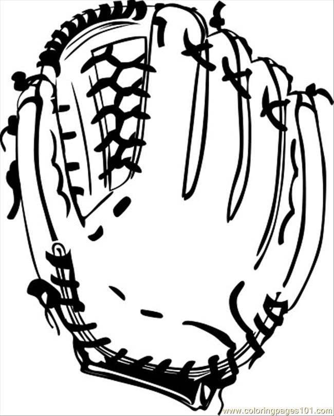 baseball glove coloring pages - photo#9