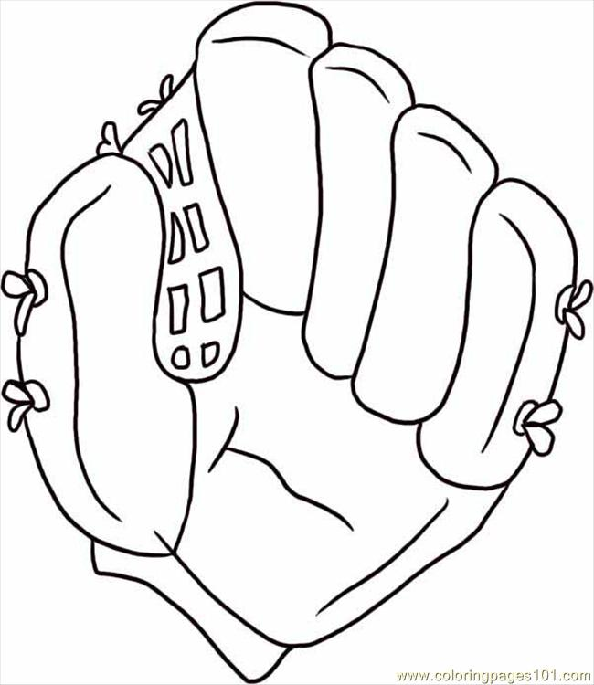 baseball glove coloring pages - photo#10