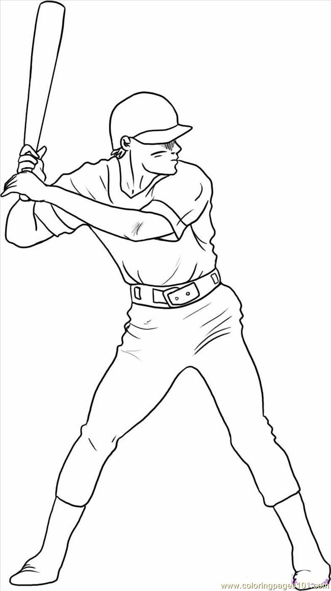 coloring pages draw a baseball player step 5 sports