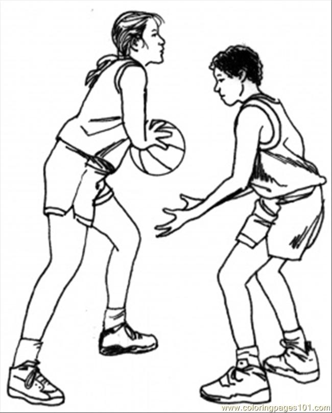 Coloring Pages Basketball Team Sports Basketball