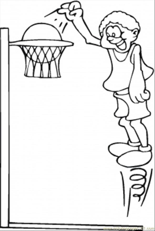 Coloring Pages Playing Basketball (Sports > Basketball ...