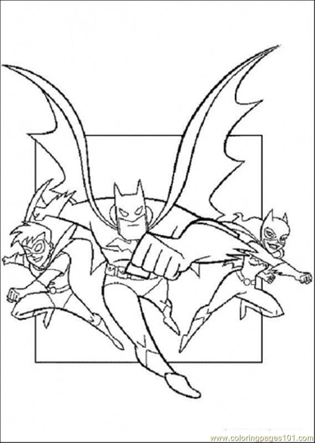 coloring pages batman catwoman and robin cartoons