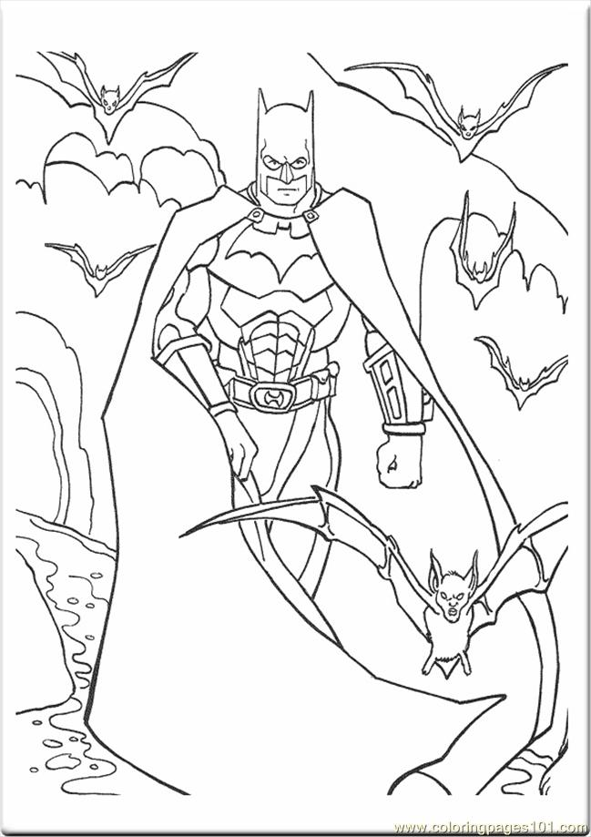 Printable Coloring Page Batman Pages 4590 Cartoons