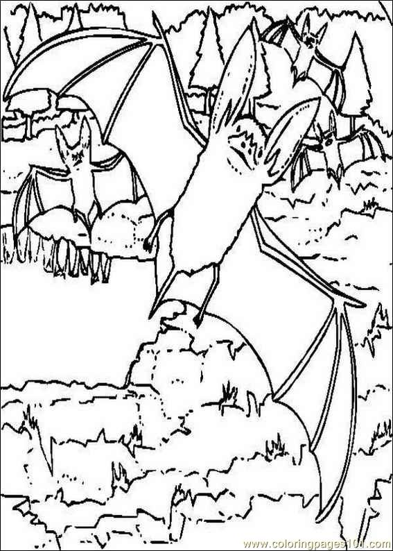 bat cave coloring pages | Bats Cave Coloring Coloring Pages