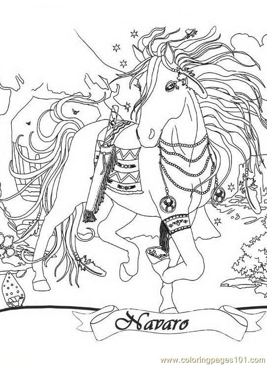 Coloring Pages Bella Sara 04 Cartoons gt Bella Sara
