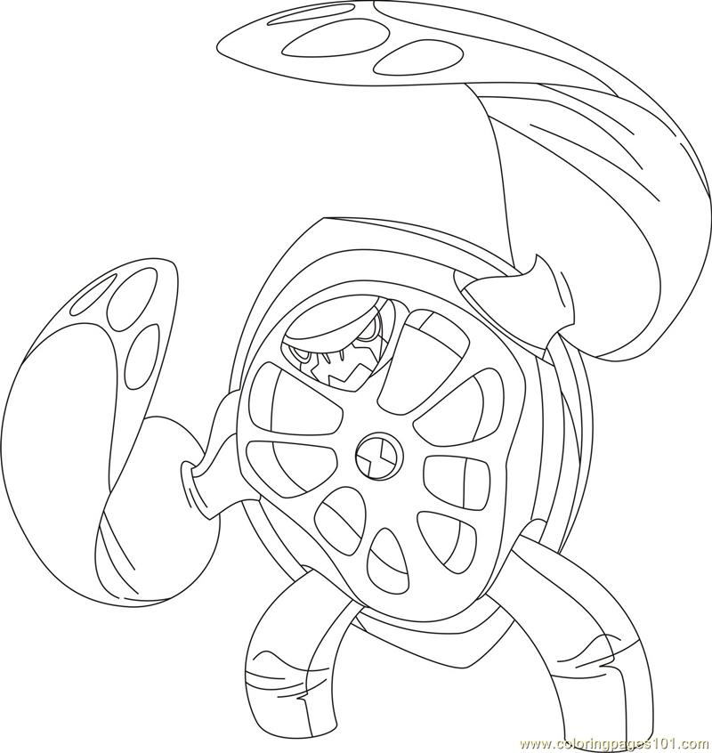 Coloring Pages Terraspin Cartoons Gt Ben 10