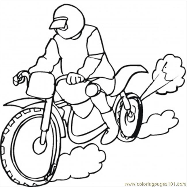 bike racing coloring pages - photo#26