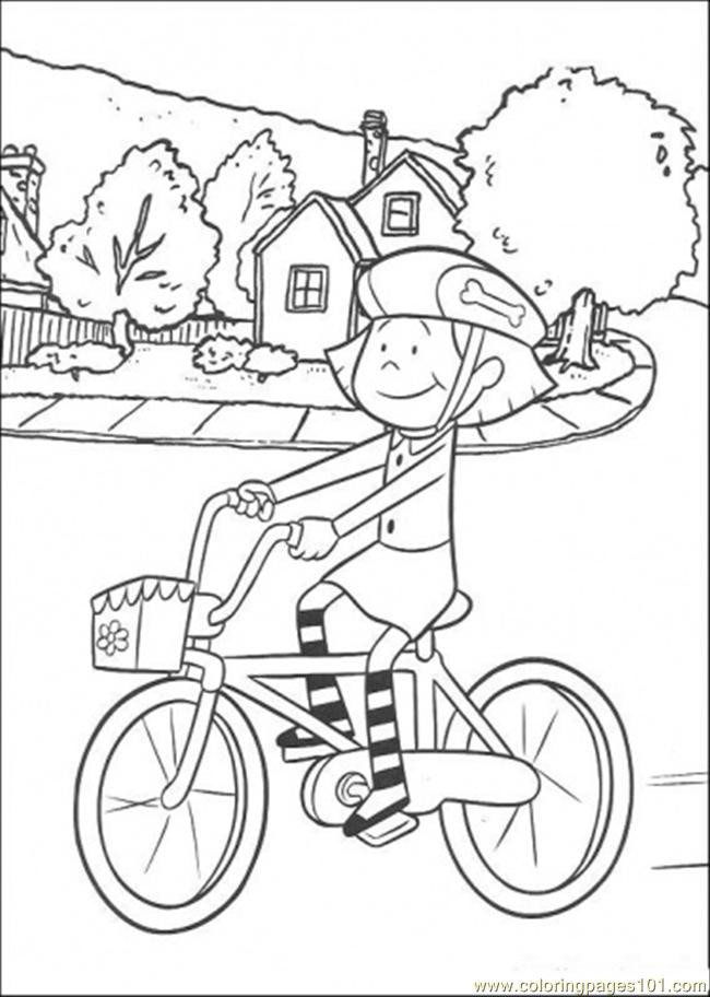 Coloring Pages Iding Her Cycle