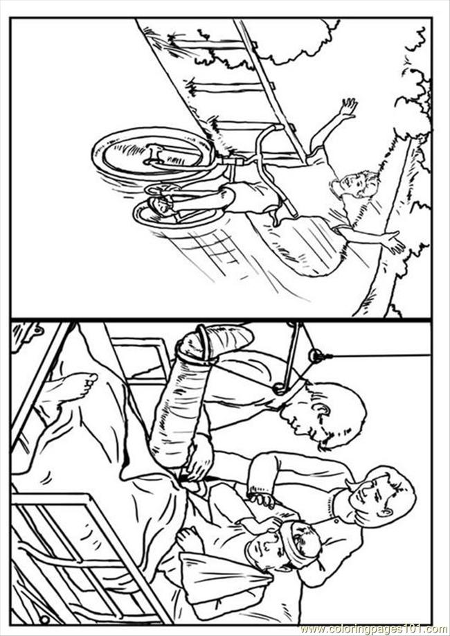 Bike Safety Coloring Pages Coloring Pages