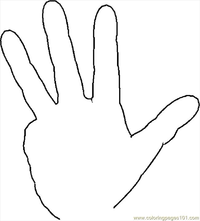 coloring pages fingers 4 peoples gt body free printable