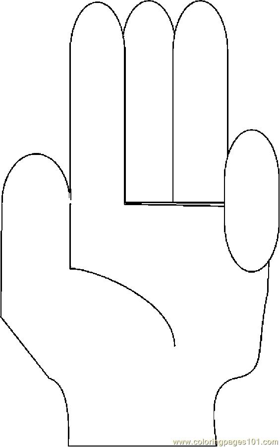 fingers free colouring pages