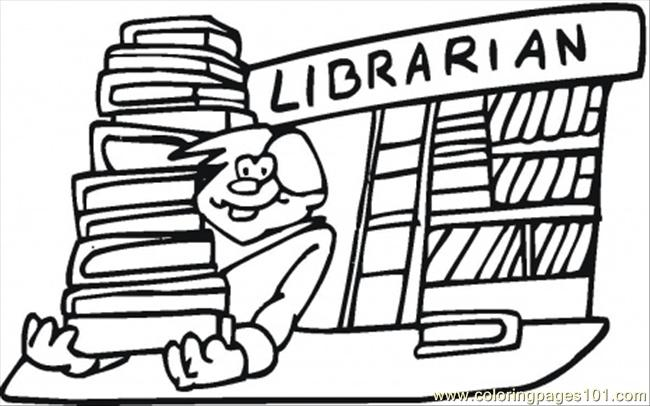 librarian coloring pages