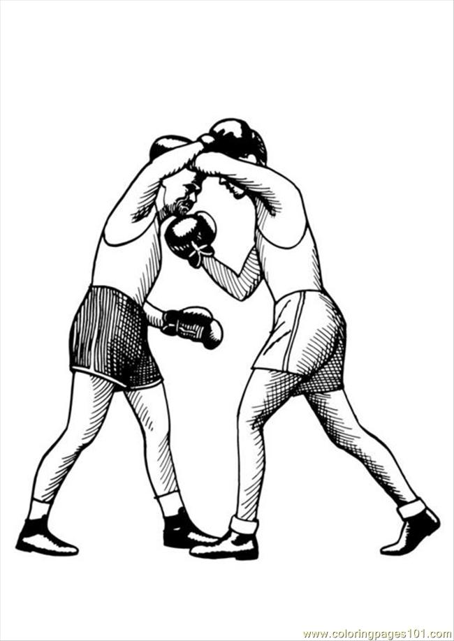 Coloring Pages Photo Boxing Uppercut