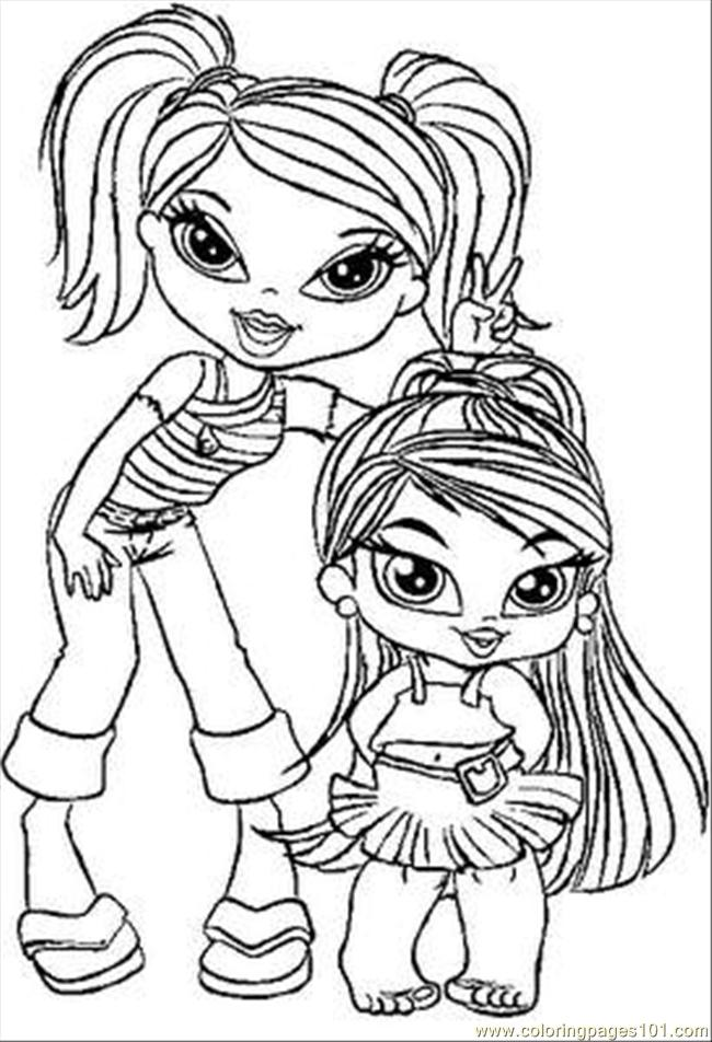 Bratz Coloring Pages Pdf : Coloring pages brats cartoons gt bratz free printable