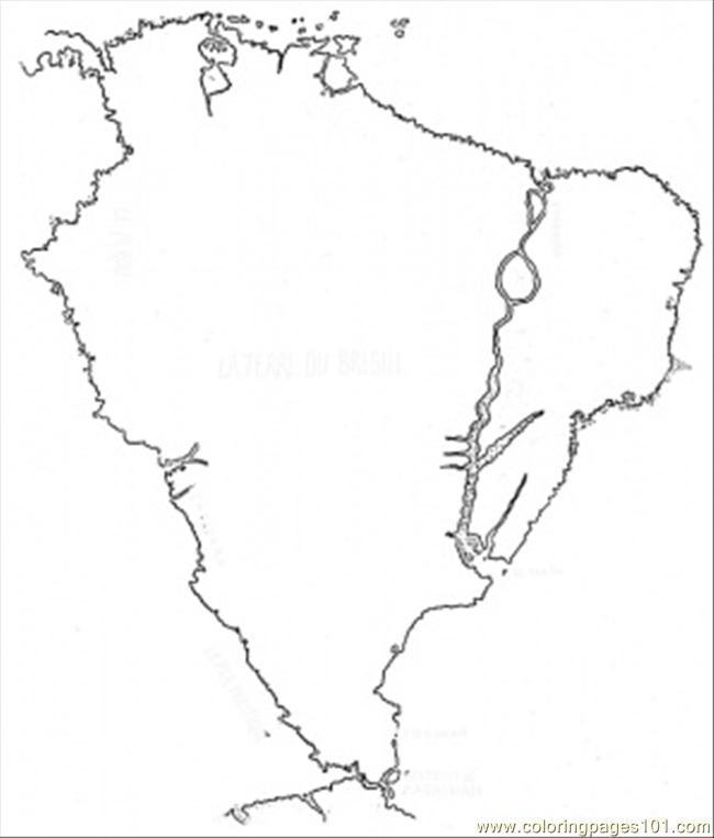 Coloring pages brazilian map countries brazil free for Brazil map coloring page