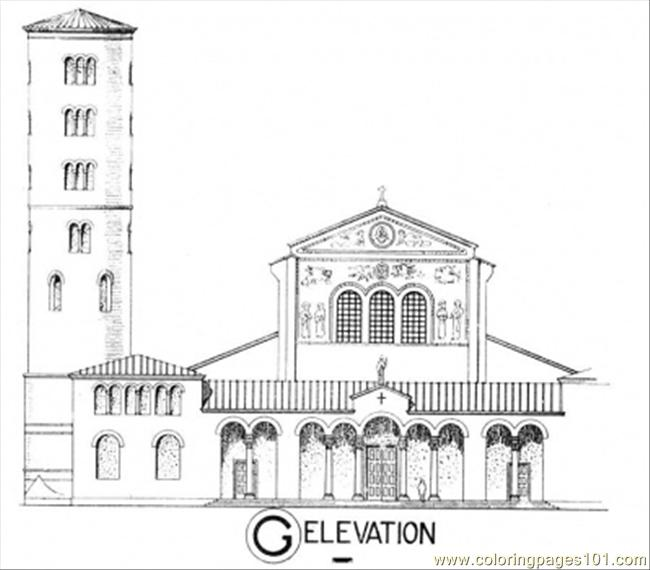 free printable coloring page Elevation (Architecture > Buildings)