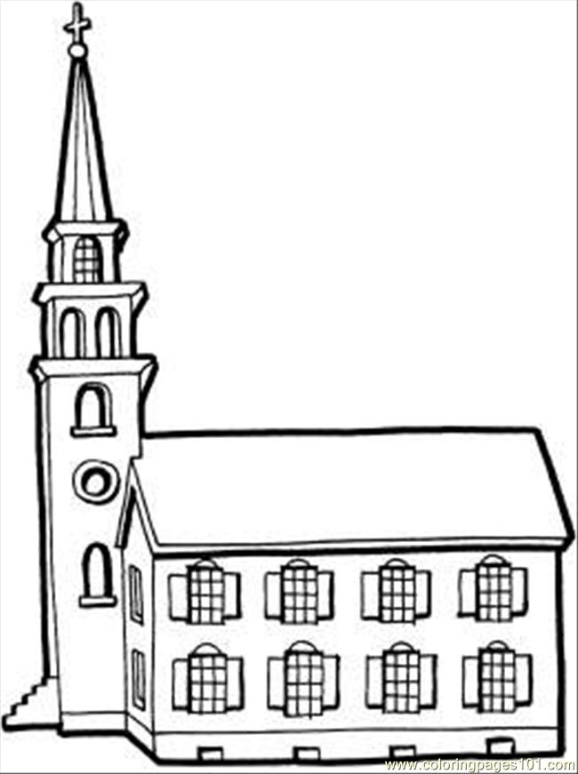 Coloring Pages Little Church With
