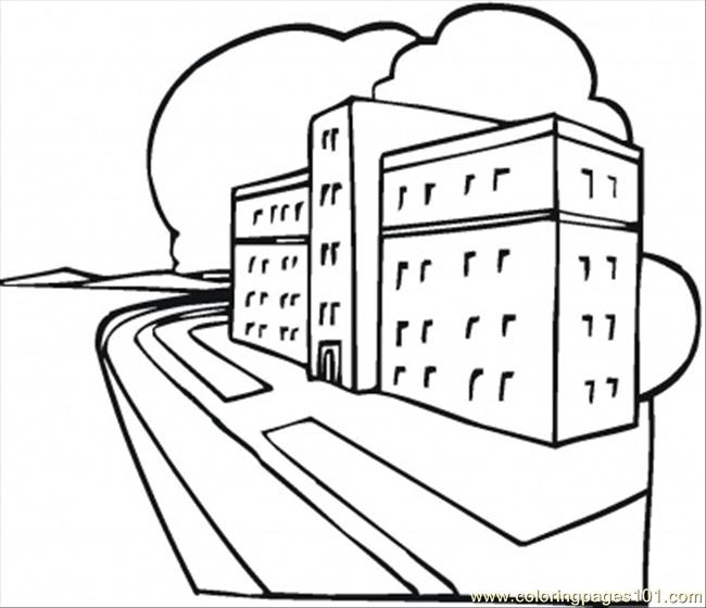 Animal Hospital Coloring Pages : Coloring pages new hospital architecture gt buildings