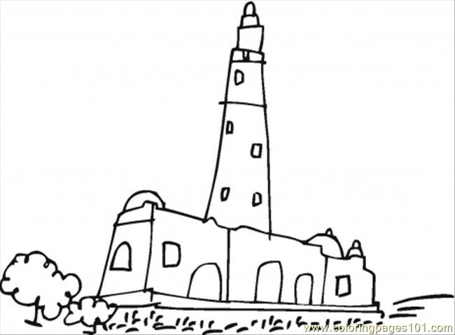 free printable colouring of a mosque