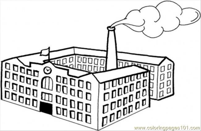 Actory Pictures Colouring Pages Factory Coloring Page