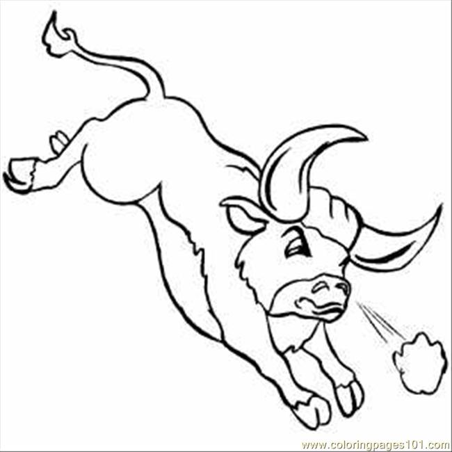bull coloring pages - photo#19