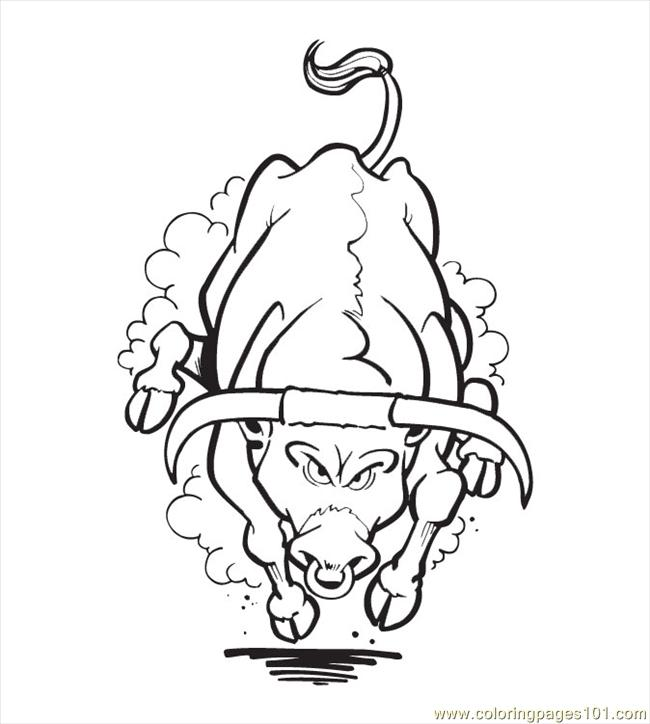 Coloring Pages Bull Coloring Pages04